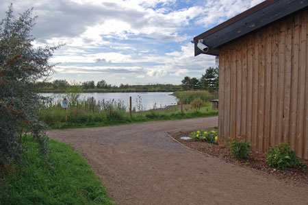 Pathway around the Lake & the side of the Workshop Building (the shed!)